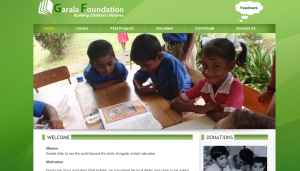 Non profit website using apptivo